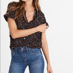 Madewell Central Drapey Shirt in Starry Night, XS